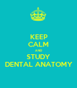 KEEP CALM AND STUDY DENTAL ANATOMY - Personalised Poster large