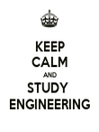 KEEP CALM AND STUDY  ENGINEERING - Personalised Poster large