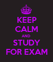 KEEP CALM AND  STUDY FOR EXAM - Personalised Poster large