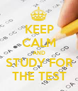 KEEP CALM AND STUDY FOR THE TEST - Personalised Poster large