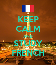 KEEP CALM AND STUDY FRENCH - Personalised Poster large