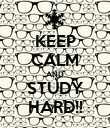 KEEP CALM AND STUDY HARD!! - Personalised Poster large