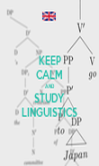 KEEP CALM AND STUDY LINGUISTICS - Personalised Poster large