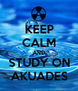 KEEP CALM AND STUDY ON AKUADES - Personalised Poster large