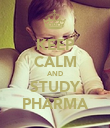 KEEP CALM AND STUDY PHARMA - Personalised Poster large