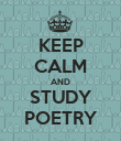 KEEP CALM AND STUDY POETRY - Personalised Poster large