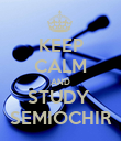 KEEP CALM AND STUDY  SEMIOCHIR - Personalised Poster large
