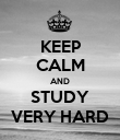 KEEP CALM AND STUDY VERY HARD - Personalised Poster large