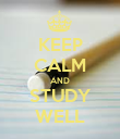KEEP CALM AND STUDY WELL - Personalised Poster large