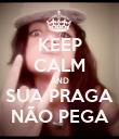 KEEP CALM AND SUA PRAGA NÃO PEGA - Personalised Poster large