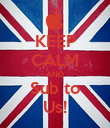 KEEP CALM AND Sub to Us! - Personalised Poster large