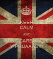 KEEP CALM AND SUBE CARBUNCLE Y PRUAAAS!!! - Personalised Poster large