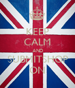 KEEP CALM AND SUBMITSHOP ON - Personalised Poster large