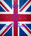 KEEP CALM AND SUEÑA CON LO IMPOSIBLE - Personalised Poster small