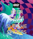 KEEP CALM AND SUE THE SPIDERS - Personalised Poster large