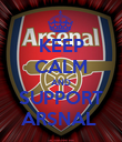 KEEP CALM AND SUPPORT ARSNAL  - Personalised Poster large