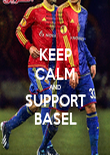 KEEP CALM AND SUPPORT BASEL - Personalised Poster large