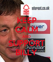 KEEP CALM AND SUPPORT BILLY - Personalised Poster small