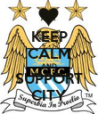 KEEP CALM AND SUPPORT CITY - Personalised Poster large