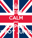 KEEP CALM AND SUPPORT COBOY JUNIOR - Personalised Poster large