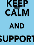 KEEP CALM AND SUPPORT COVERNTRY F.C - Personalised Poster large