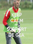 KEEP CALM AND SUPPORT DE GEA - Personalised Poster large
