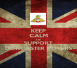 KEEP CALM AND SUPPORT DONCASTER ROVERS - Personalised Poster large