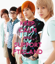 KEEP CALM AND SUPPORT FTISLAND - Personalised Poster large