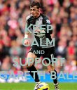 KEEP CALM AND SUPPORT GARETH BALE - Personalised Poster large
