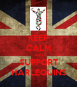 KEEP CALM AND SUPPORT HARLEQUINS - Personalised Poster large