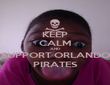 KEEP CALM AND SUPPORT ORLANDO PIRATES - Personalised Poster large