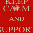 KEEP CALM AND SUPPORT OWLS - Personalised Poster large