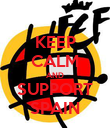 KEEP CALM AND SUPPORT SPAIN - Personalised Poster large