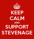 KEEP CALM AND SUPPORT STEVENAGE - Personalised Poster large