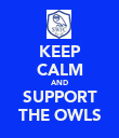 KEEP CALM AND SUPPORT THE OWLS - Personalised Poster large