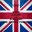 KEEP CALM AND SUPPORT THE PARALYMPICS - Personalised Poster large
