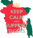 KEEP CALM AND SUPPORT TIGERS - Personalised Poster large