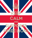 KEEP CALM AND SUPPORTS THREE LIONS - Personalised Poster large