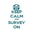 KEEP CALM AND SURVEY ON - Personalised Poster large