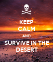 KEEP CALM AND SURVIVE IN THE DESERT - Personalised Poster large