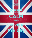 KEEP CALM AND survive  the day - Personalised Poster large
