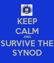 KEEP CALM AND SURVIVE THE SYNOD - Personalised Poster large