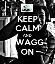 KEEP CALM AND SWAGG ON - Personalised Poster large