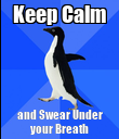 Keep Calm and Swear Under your Breath - Personalised Poster large