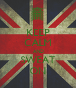 KEEP CALM AND SWEAT ON - Personalised Poster large