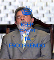 KEEP CALM AND TÁ ESCORRENDO - Personalised Poster large