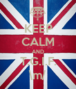 KEEP CALM AND T.G.I.F. \m/ - Personalised Poster large
