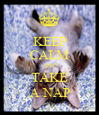 KEEP CALM AND TAKE A NAP - Personalised Poster large