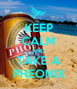 KEEP CALM AND TAKE A PHEONIX - Personalised Poster large