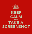 KEEP CALM AND TAKE A SCREENSHOT - Personalised Poster large